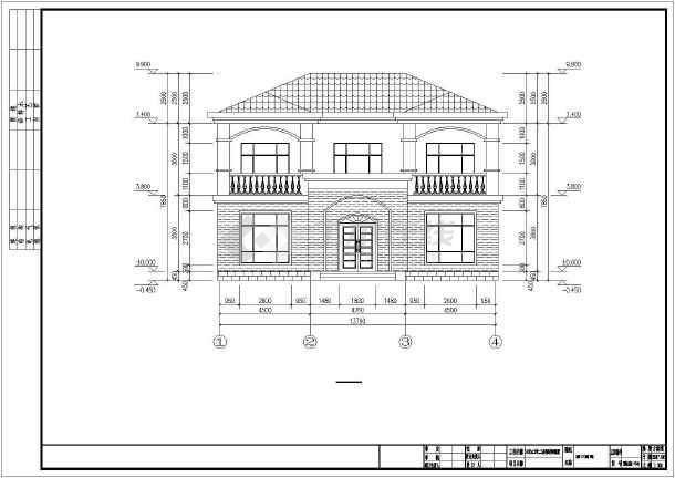 14米x12米二层钢结构别墅设计图纸-图二