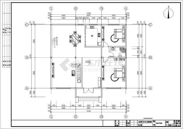 14米x12米二层钢结构别墅设计图纸-图2