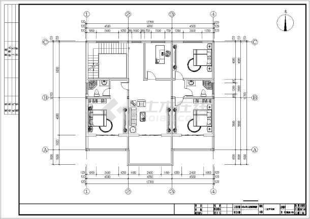 14米x12米二层钢结构别墅设计图纸-图3