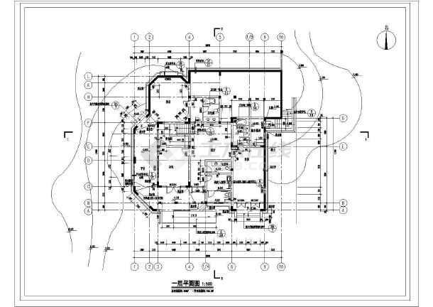 别墅建筑详细室内装修cad设计施工图-图1