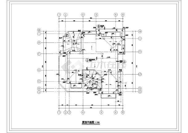 别墅建筑详细室内装修cad设计施工图-图2