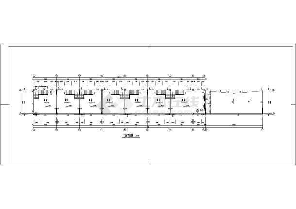 某地区商业楼建筑施工图(共7张)-图3