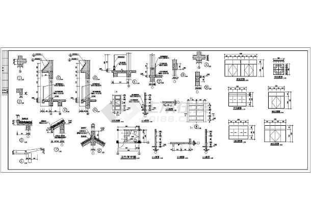 某地商业街施工建筑图-图3