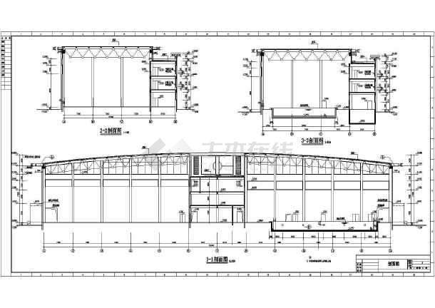 某地体育馆建筑设计图-图3