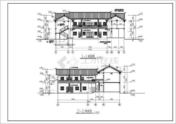 比较精美的住宅建筑施工图(共10张)-图1