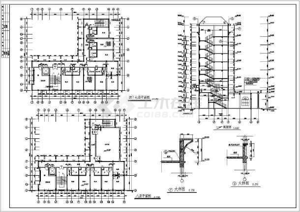 某地私人宾馆建筑施工图-图1