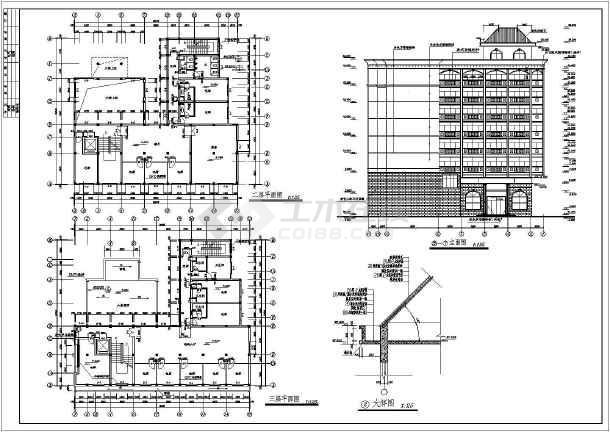 某地私人宾馆建筑施工图-图2