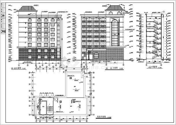某地私人宾馆建筑施工图-图3