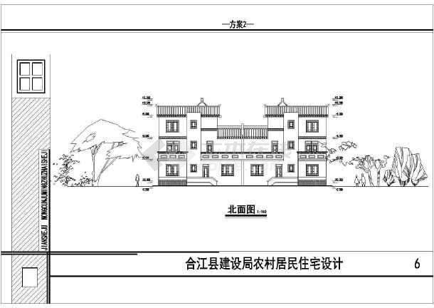 点击查看某地民居住宅楼建筑设计方案图第2张大图
