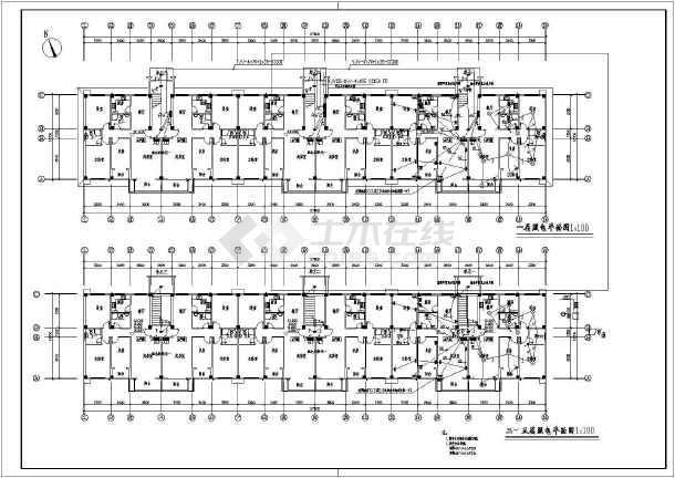某多层住宅楼电气cad施工图(共8张)-图1