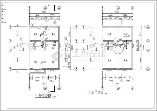 某二层带阁楼乡村别墅建筑设计方案图-图2