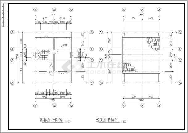 某二层带阁楼乡村别墅建筑设计方案图-图3