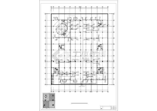 某大饭店及休闲广场暖通设计图-图1