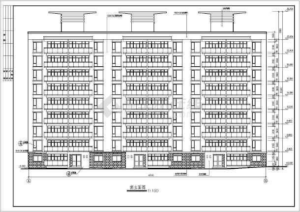 某永宏佳园小高层住宅建筑施工图(共8张)-图1