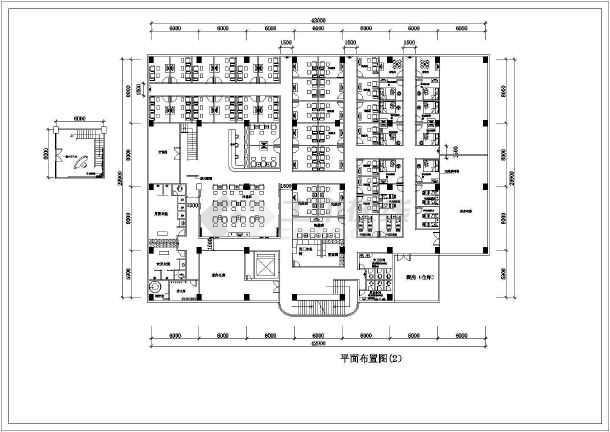 某地休闲中心建筑cad施工图-图2