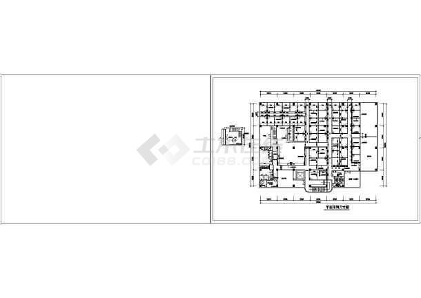 某地休闲中心建筑cad施工图-图3