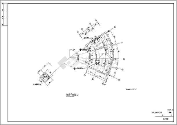 永达花园住宅小区会所建筑设计图(共14张)-图1
