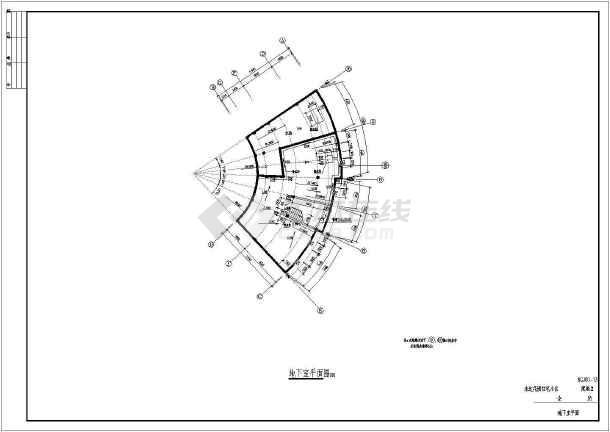 永达花园住宅小区会所建筑设计图(共14张)-图2