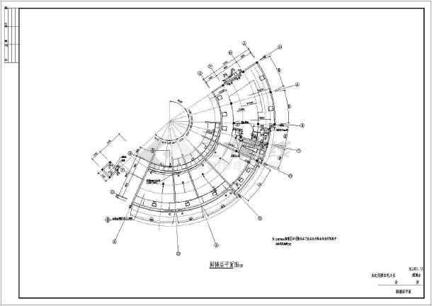 永达花园住宅小区会所建筑设计图(共14张)-图3
