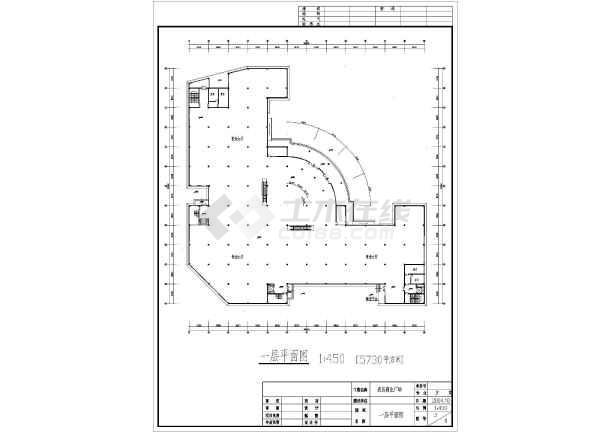 某地五层商场设计建筑图-图1