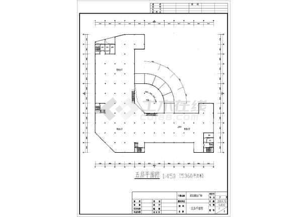 某地五层商场设计建筑图-图3