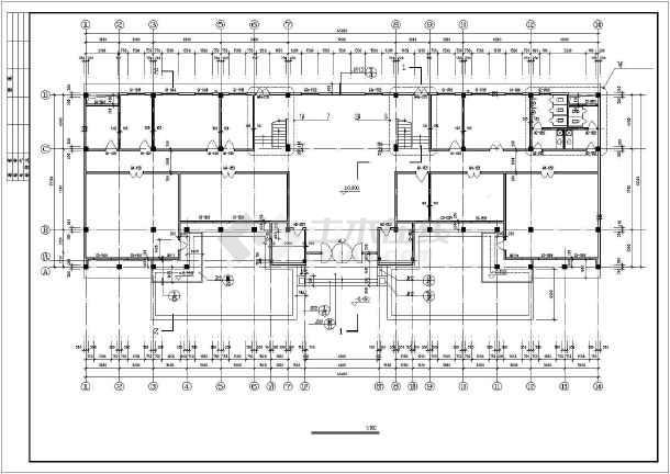 某3层办公楼建筑方案设计CAD图-图1