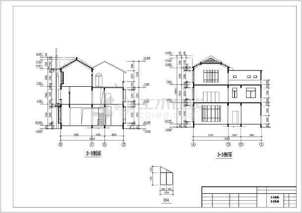 某私人住宅楼建筑方案设计cad图-图2