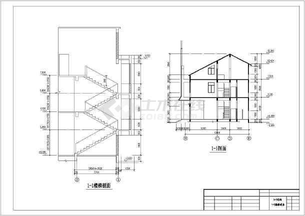 某私人住宅楼建筑方案设计cad图-图3
