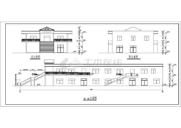 某食堂综合楼扩出建筑图-图1