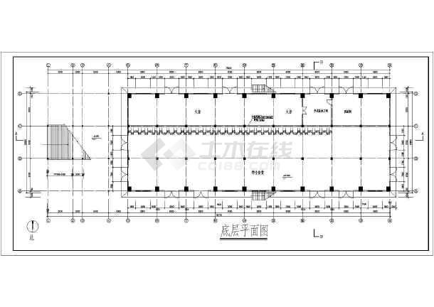 某食堂综合楼扩出建筑图-图2