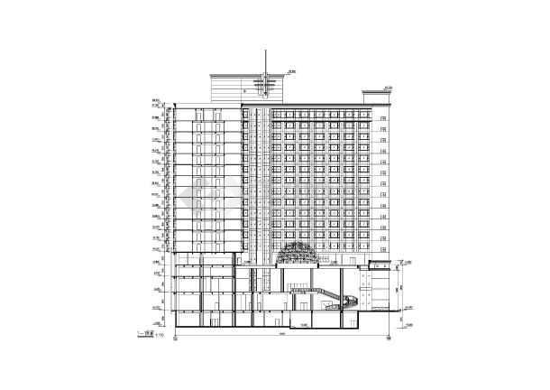 某地高层酒店建筑施工图-图1