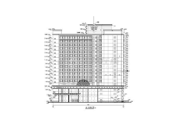 某地高层酒店建筑施工图-图2