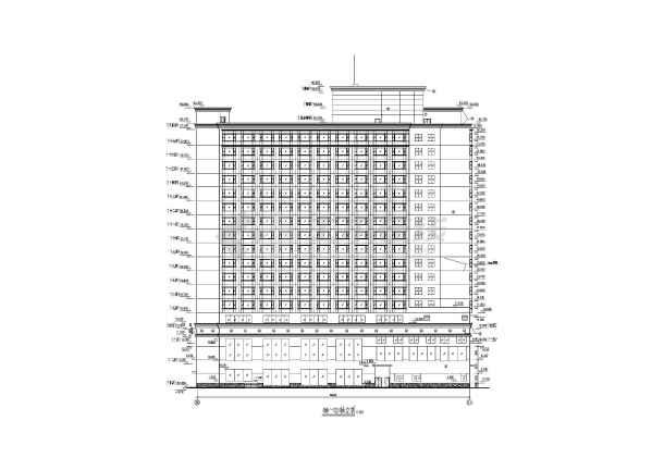 某地高层酒店建筑施工图-图3