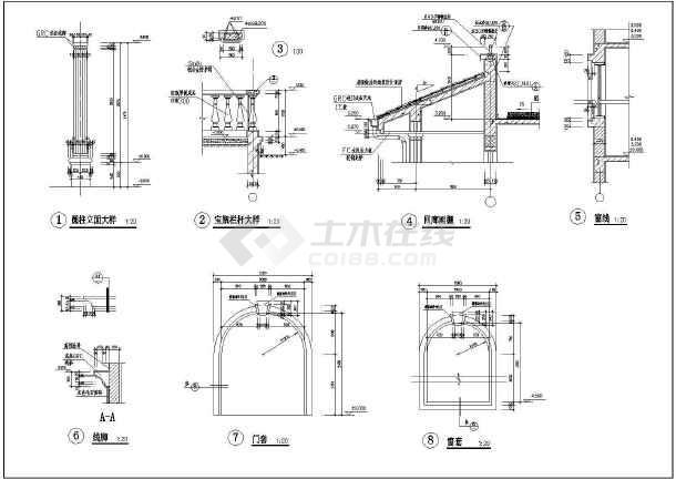 某三层框架别墅建筑设计方案图-图2