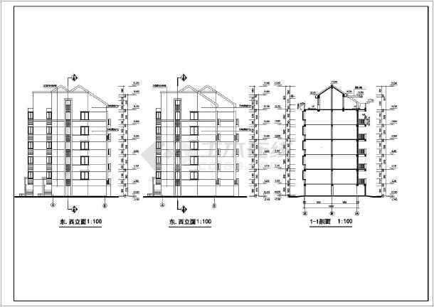 某地居住区31栋住宅楼建筑设计图-图3