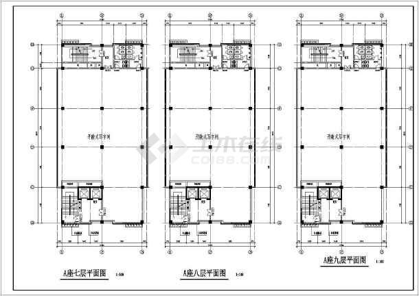 某地商业写字楼建筑设计图纸-图1