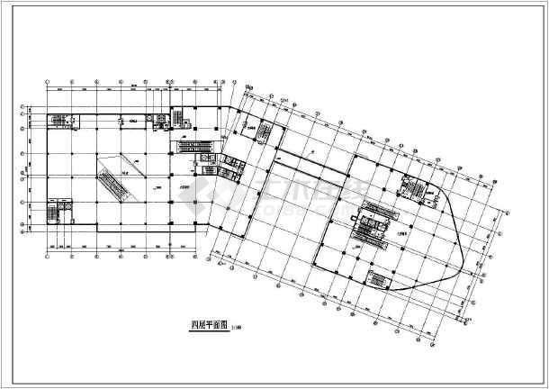 某地商业写字楼建筑设计图纸-图3