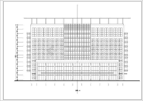 某地医院12层综合楼cad施工方案设计图-图2
