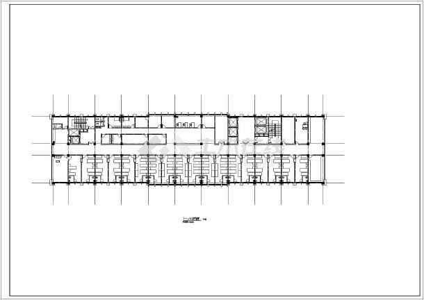 某地医院12层综合楼cad施工方案设计图-图3