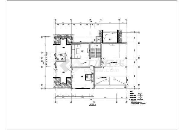 精装修欧式别墅建筑设计图-图二