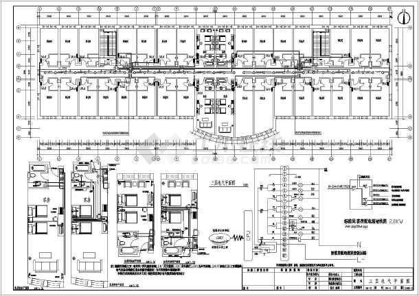 酒店全套电气施工图(共9张)-图3