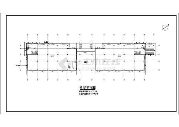 某小区娱乐城施工建筑图-图1