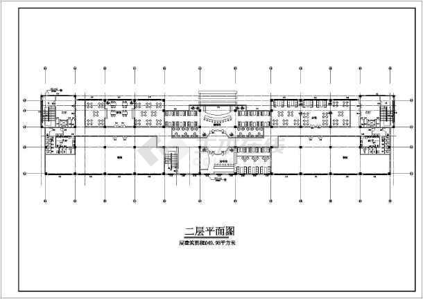 某小区娱乐城施工建筑图-图2