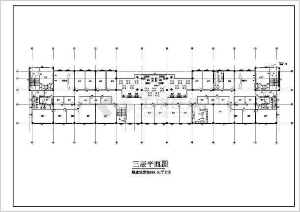某小区娱乐城施工建筑图-图3