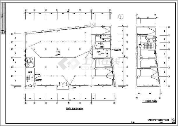 某地区服装车间电气cad施工图(含设计说明)-图1