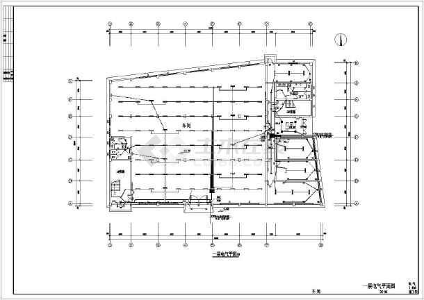 某地区服装车间电气cad施工图(含设计说明)-图2