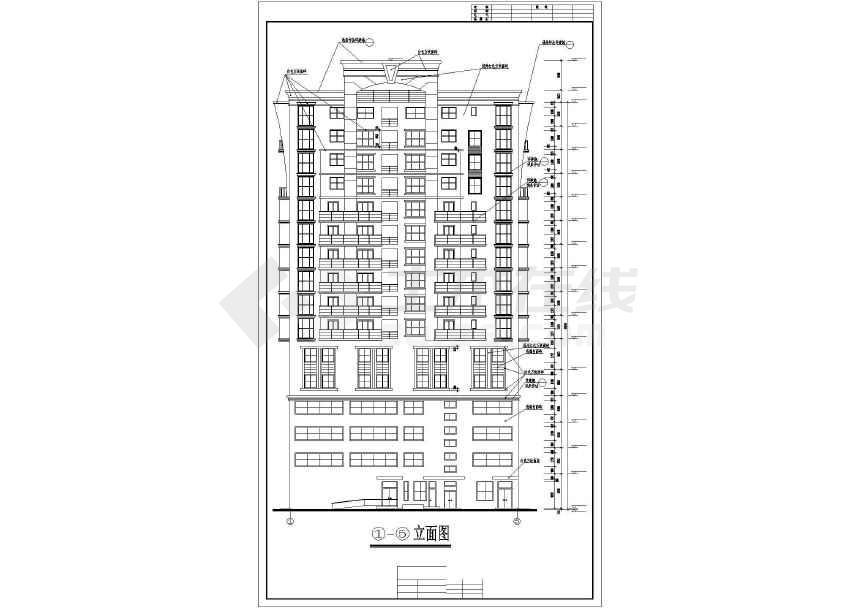 某地十六层工会大厦建筑方案图-图2
