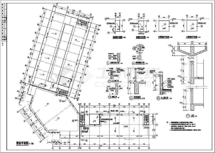 某地综合市场建筑方案图-图1