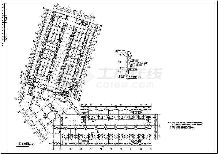 某地综合市场建筑方案图-图2