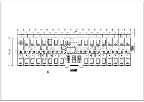 洗浴中心装修设计CAD平面方案图-图1